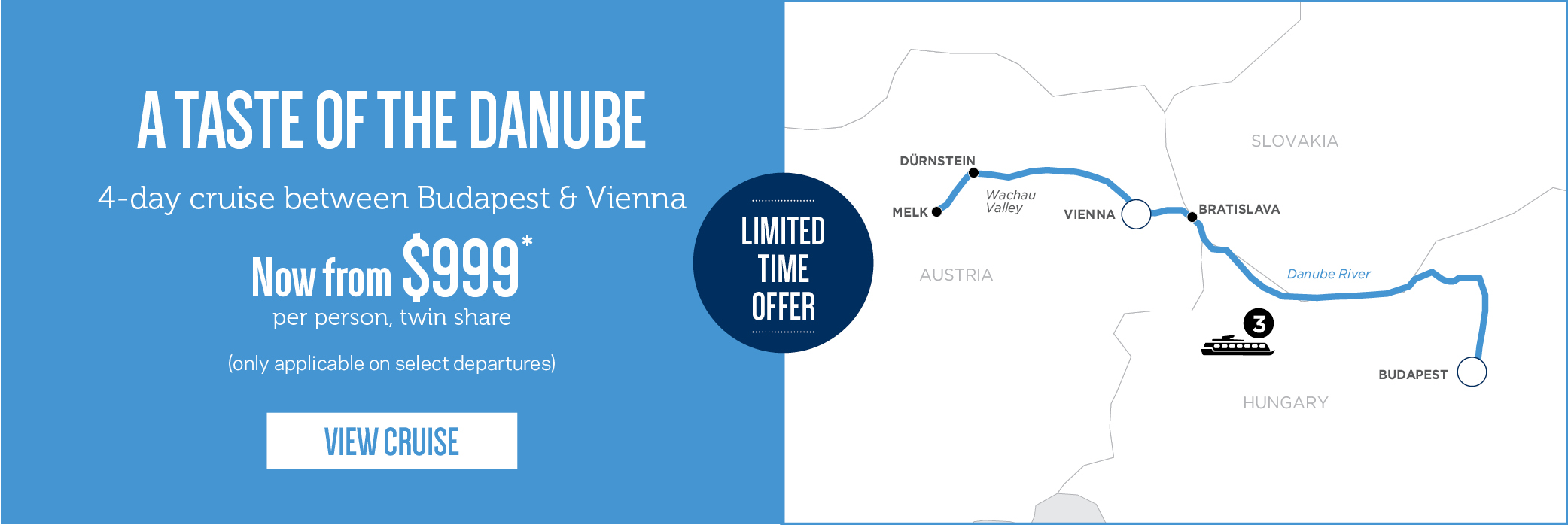 A Taste of the Danube for $999 pp